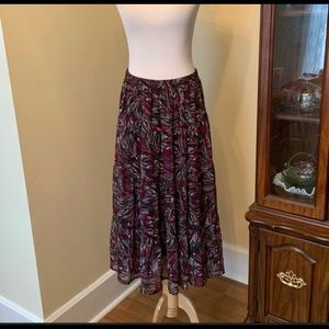 CJ Banks patterned midi skirt
